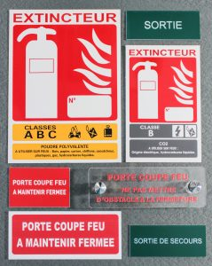 a4 panneau incendie