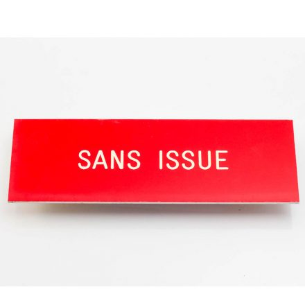 plaque sans issue carre